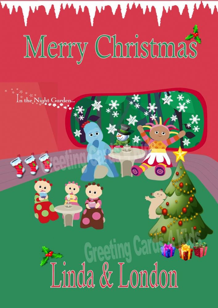 Personalised In The Night Garden Christmas Card